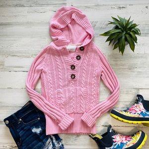 Aeropostale pink hooded sweater